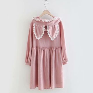 Long-sleeve | Babydoll | Dress | Hood | Lace