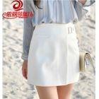 Buckled Asymmetric A-Line Skirt 1596