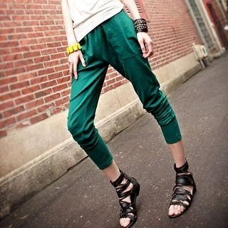 Picture of Ando Store Drape-Pocket Slim-Fit Pants 1022710406 (Womens Slim-Fit Pants, Ando Store Pants, China Pants)