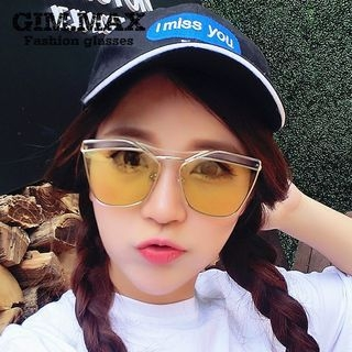 Color Lens Double High Bar Sunglasses 1050170059