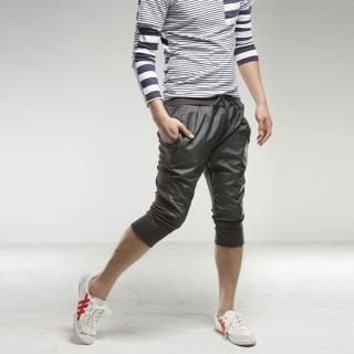 Picture of Style YOURS Paneled Cropped Sweat Pants 1022434400 (Style YOURS, Mens Pants, Korea)