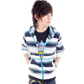 Buy SLOWTOWN Striped Knit Hoodie 1023009088