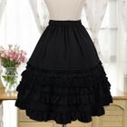 Ruffle Trim A-Line Skirt 1596