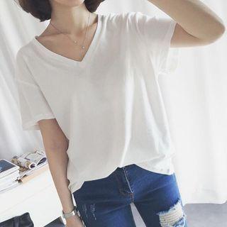 Short-Sleeve V-neck T-Shirt 1058230158