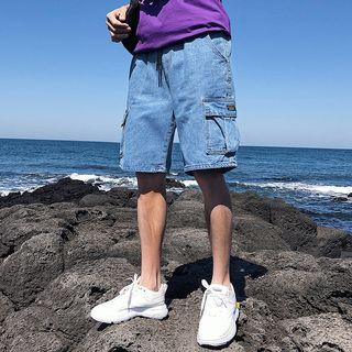 Image of Denim Cargo Shorts