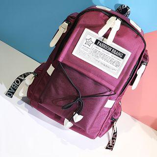 Applique Nylon Backpack