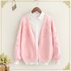 Applique Open Front Cardigan 1596