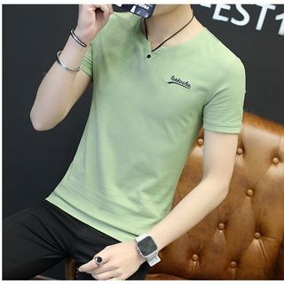 V-neck Short-Sleeve T-shirt 1058195096