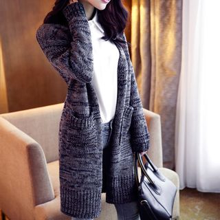 Melange Long Cardigan 1054255110