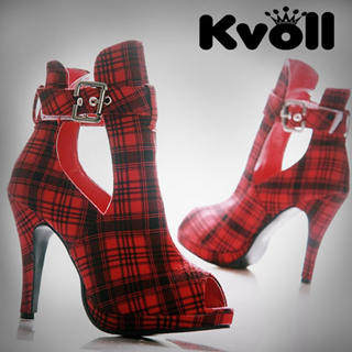 Buy Kvoll Buckle-Detail Peep-Toe Platform Pumps 1022512507