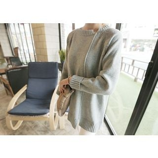 Slit-Detail Wool Blend Knit Top 1045068382
