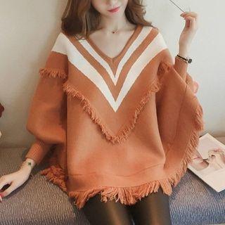 Fringe Trim Sweater 1062129247
