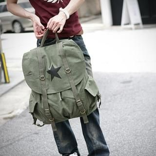 Picture of ITSBOY Star Print Canvas Backpack 1021217643 (ITSBOY, Backpacks, Korea Bags, Mens Bags, Mens Backpacks)