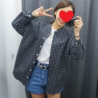 Image of Checked Button Jacket Premium Edition - As Shown In Figure - One Size