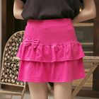 Bow-Accent Layered Skirt 1596