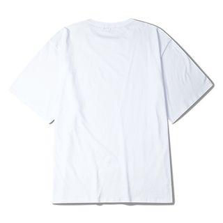 Image of Couple Matching Plain Elbow-Sleeve T-Shirt