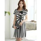 Striped Short Sleeve A-line Dress от YesStyle.com INT