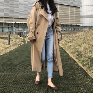 Chata Double Breasted Long Trench Coat