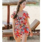 Couple Matching Floral Print Swimshorts/ Set: Bikini + Cover-Up 1596