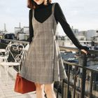 Plaid Sleeveless Dress 1596