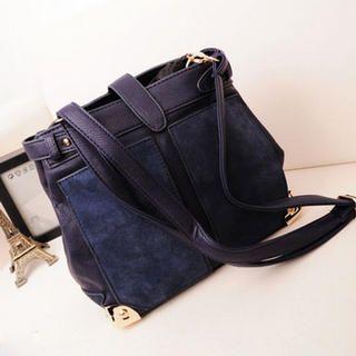 Metal-Tip Shoulder Bag