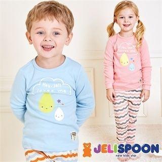 Kids Pajama Set: Print Top + Pants 1053467773
