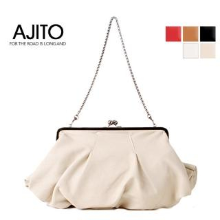 Buy AJITO Kiss-Lock Handbag with Metal Strap 1022283024