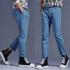 Plain Straight-Leg Pants 1596
