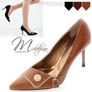 Buy MICHEL PARA COLLECTION Genuine Leather Pointy Stilettos 1022938428