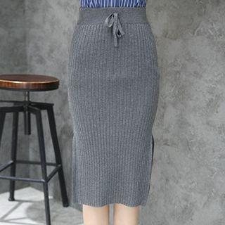 Ribbed Midi Skirt 1052716069