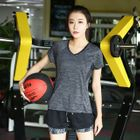 Set: Short-Sleeve Quick-Dry V-Neck T-Shirt + Shorts 1596