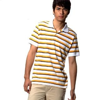 Buy Justyle Short-Sleeve Striped Polo Shirt 1022441995