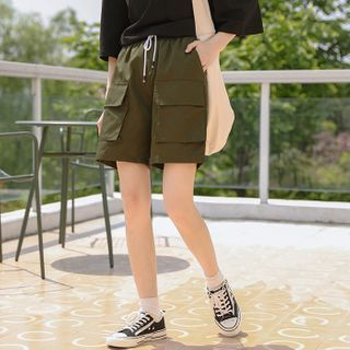 Cargo | Green | Short | Army | Size | One