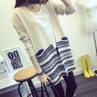 Maternity Patterned Long Cardigan Light Gray - One Size от YesStyle.com INT