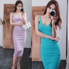 Ribbed Bodycon Dress 1596
