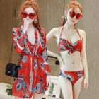 Set: Printed Bikini + Cover 1596