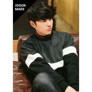 Color-Block Quilted Sweatshirt 1055242480
