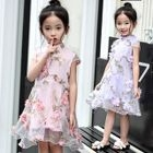 Kids Applique Tulle Dress 1596