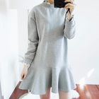 Long-Sleeve Frilled Dress 1596