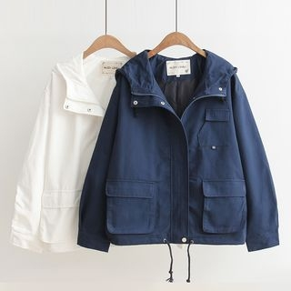 Drawstring Hooded Jacket 1057997490