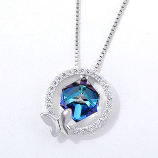Rhinestone   Swarovski   Butterfly   Necklace   Crystal