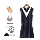 Sleeveless V-Neck A-Line Dress 1596