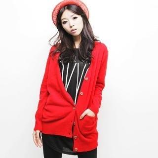Buy Beccgirl Wool Blend Long Cardigan 1021452939