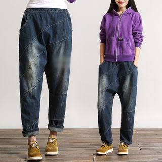 Washed Harem Jeans 1053877943