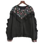 Floral Ruffle Zip Jacket 1596