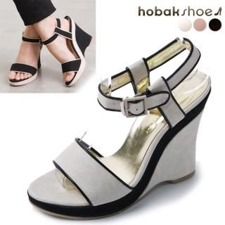 Picture of HOBAK girls Ankle Strap Wedge Sandals 1022848384 (Sandals, HOBAK girls Shoes, Korea Shoes, Womens Shoes, Womens Sandals)