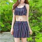 Set: Printed Tankini Top + Swim Skirt 1596
