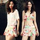 Floral Ruffle Bikini Set 1596