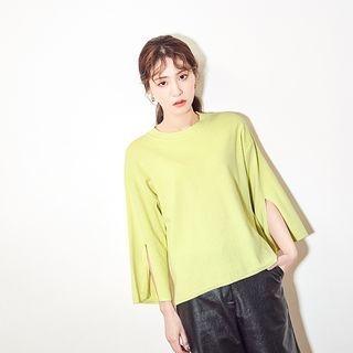 Slit-Sleeve Knit Top 1064582748