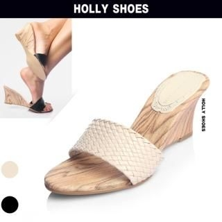 Buy Holly Shoes Woven Strap Wedge Slippers 1022888006